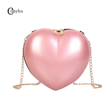 цены на CUMYAKA Love Heart Small Women Crossbody Bag Mini Chain Lady Shoulder Bag Girl Fashion Cute Evening Bags Women Handbag 2019 New  в интернет-магазинах