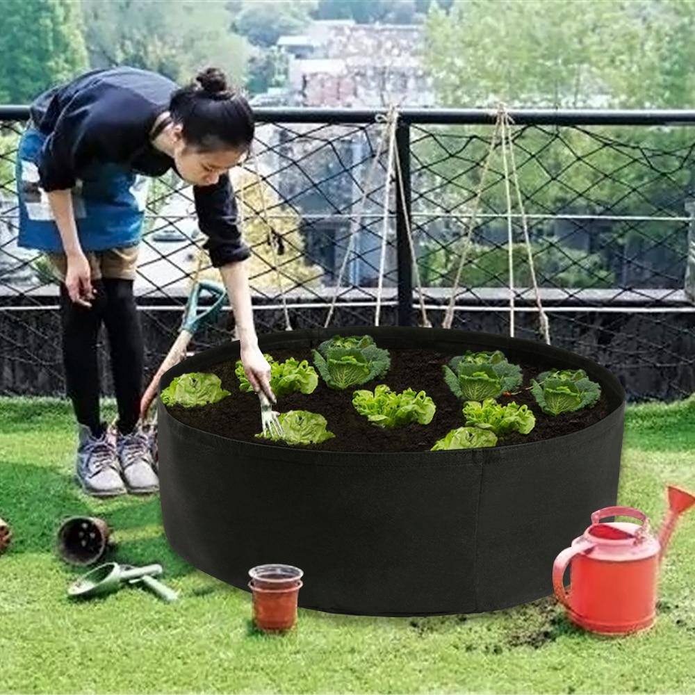 Ткань подвесная клумба 50 галлонов круглый посадки контейнер кармашки для выращивания растений дышащая фетровая ткань Кашпо Горшок для рас...