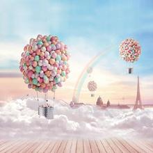 SHENGYONGBAO Vinyl Custom Photography Backdrops Prop For Photo Studio Pink balloon Backgrounds  C-030