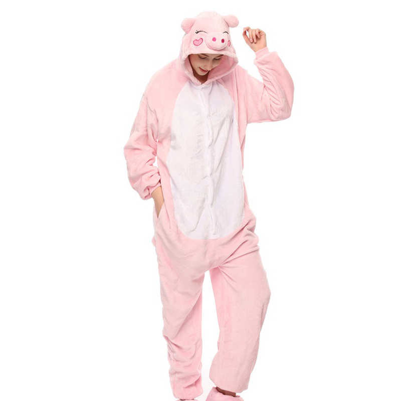 e810cc9af ... PSEEWE Winter Pajama sets Women Sleepwear unicorn Panda stitch onesies  for adults Animal Pajamas Cartoon Cosplay ...