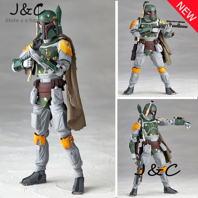 Free Shipping New Star Wars REVO 005 Boba Fett Action Figure Model 15cm PVC Action Figure Doll Toys Kids Gift Brinquedos star wars story 15cm range trooper darth vader darth maul boba fett pvc action figure toy collectible model doll toys bkx118