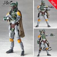 Kostenloser Versand New Star Wars REVO 005 Boba fett Action abbildung Modell 15 cm PVC Action Figure Puppe Spielzeug Kinder Geschenk Brinquedos