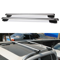 BBQ@FUKA NEW Car Luggage Roof Rack Rail Cross Bar Crossbar For JEEP Cherokee 2014 2017 Car Exterior Accessories Styling