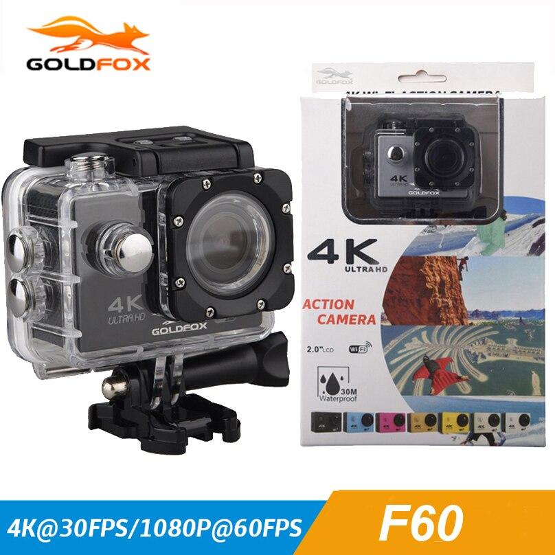 GOLDFOX WIFI 4K Action camera F60 1080p HD V3 4K / 30fps 2.0 170D pro Helmet Cam 30 meters waterproof Sports DV Car camera