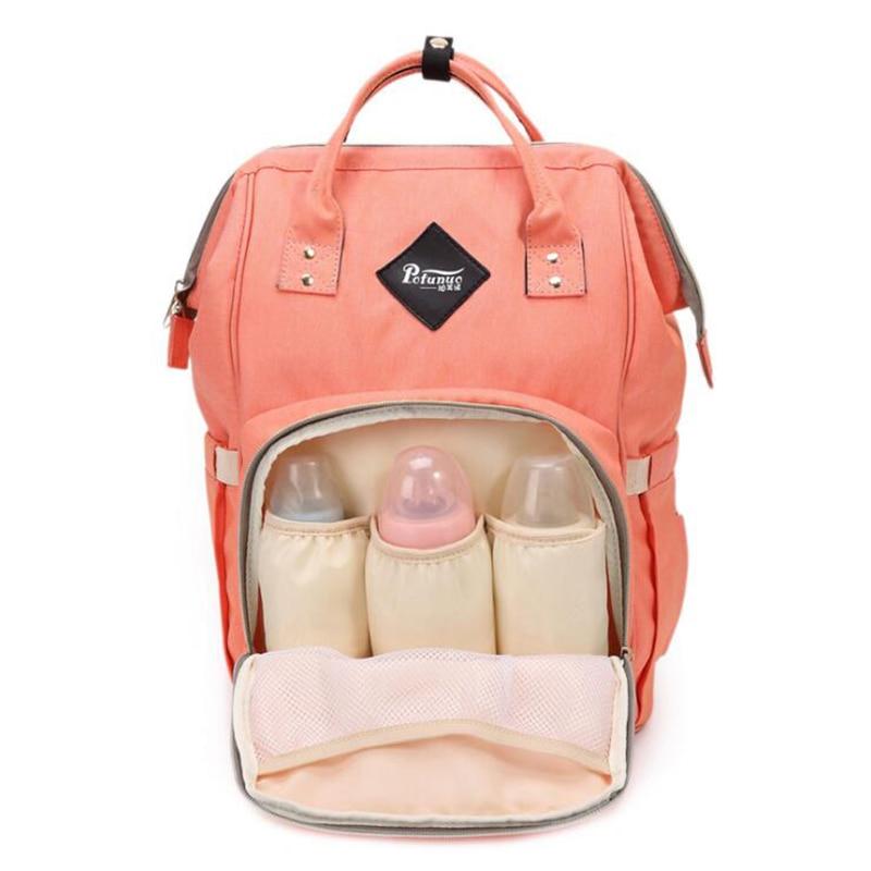 Fashion multi-functional Mummy maternity nappy bag large capacity baby bag travel backpack tote designer nursing bag functional capacity of mango leave extracts