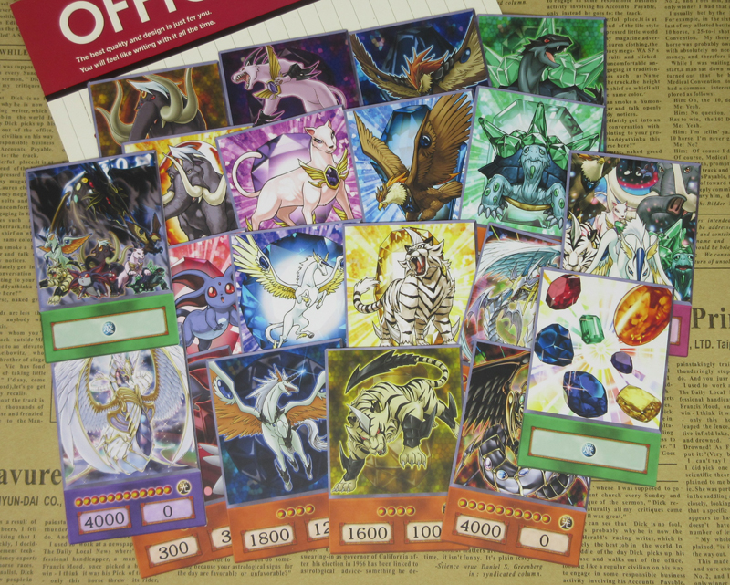 20pcs Yu-Gi-Oh! Crystal Beasts Anime Style Cards Ruby Carbuncle Emerald Tortoise Sapphire Pegasus GX Duel Links Orica Paper Card