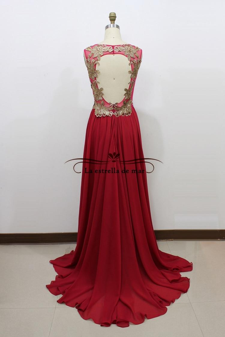 Vestido DE formatura longo em vestidos DE baile2017 new sexy v-neck lace A Line gold and Burgundy PROM dresses with real photos