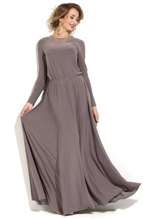 Aliexpress.com : Buy Summer Gray Arabic Style Long Chiffon O neck ...