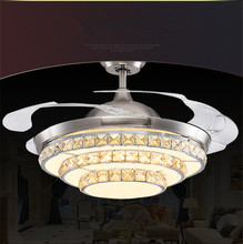 Crystal Ceiling Light Restaurant Minimalist Modern Living Room Bedroom Fan Shape Chandelier With LED