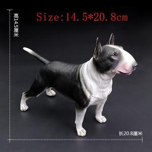 Image 2 - DDWE Bull Terrier Bulldog Pet dog Greyhound Simulation Animal Model Decoration Bully pitbull Action Toy Figure for Children Gift