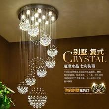 2017 venda quente nova espiral led candelabro de cristal k9 lustre após a venda o estar do lobby escalas + frete grátis