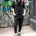 2016 новый мужской одежды зимние брюки PU нагрудник брюки лодыжки брюки одна часть брюки комбинезон певица костюмы