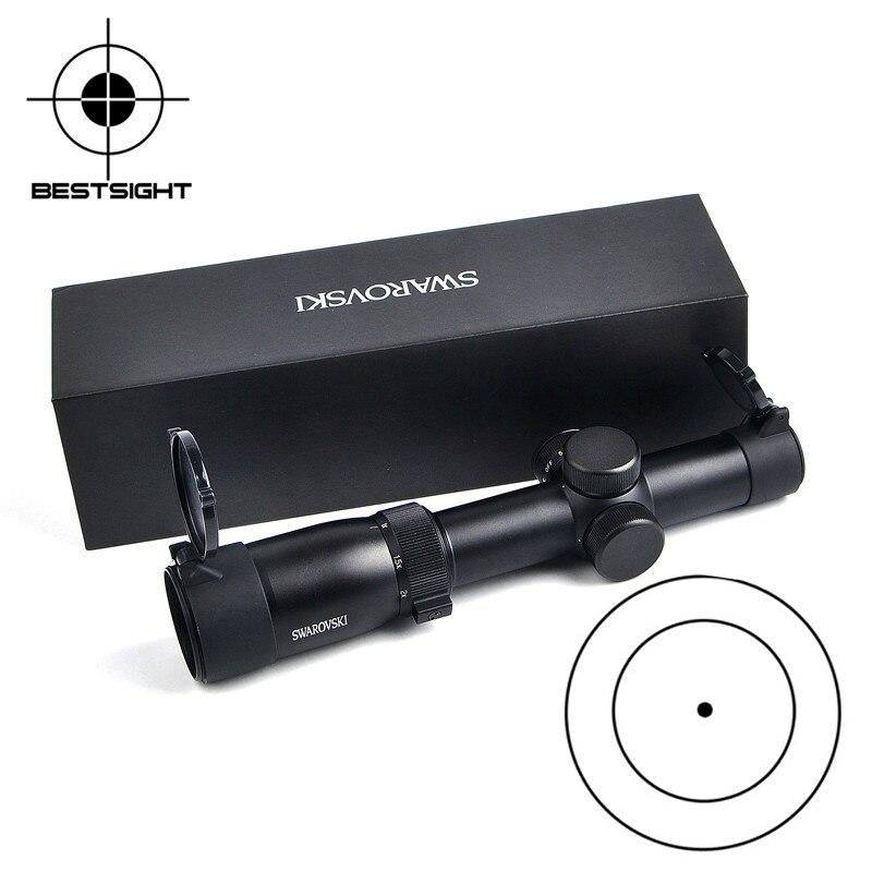 Étui de lunette de visée optique tactique swarovski 1-6x24IRZ3 F101 point de lunette de visée optique ponctuée lunette de visée en verre réticule pour la chasse