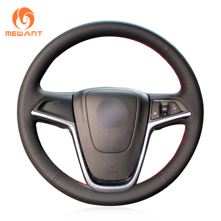 MEWANT Black Artificial Leather Car Steering Wheel Cover for Buick Excelle XT GT Encore Opel Mokka чехлы для автокресел boutique jushi gt xt 320
