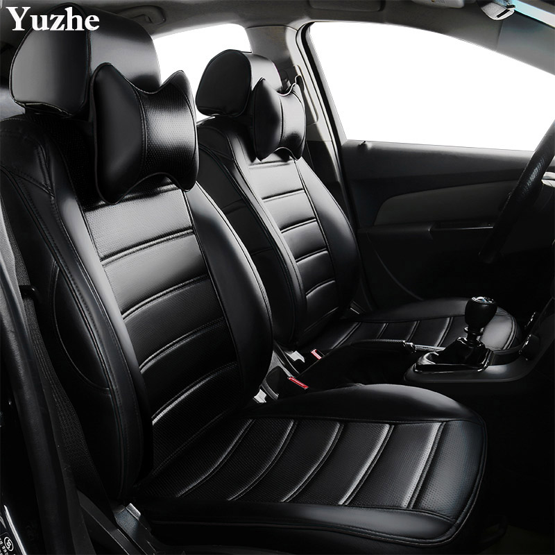 Yuzhe (2 Front seats) Auto automobiles leather car seat cover For BMW e30 e34 e36 e39 e46 e60 f11 f10 f30 x3 x5 x1 accessories vehicle car accessories auto car seat cover back protector for children kick mat mud clean bk