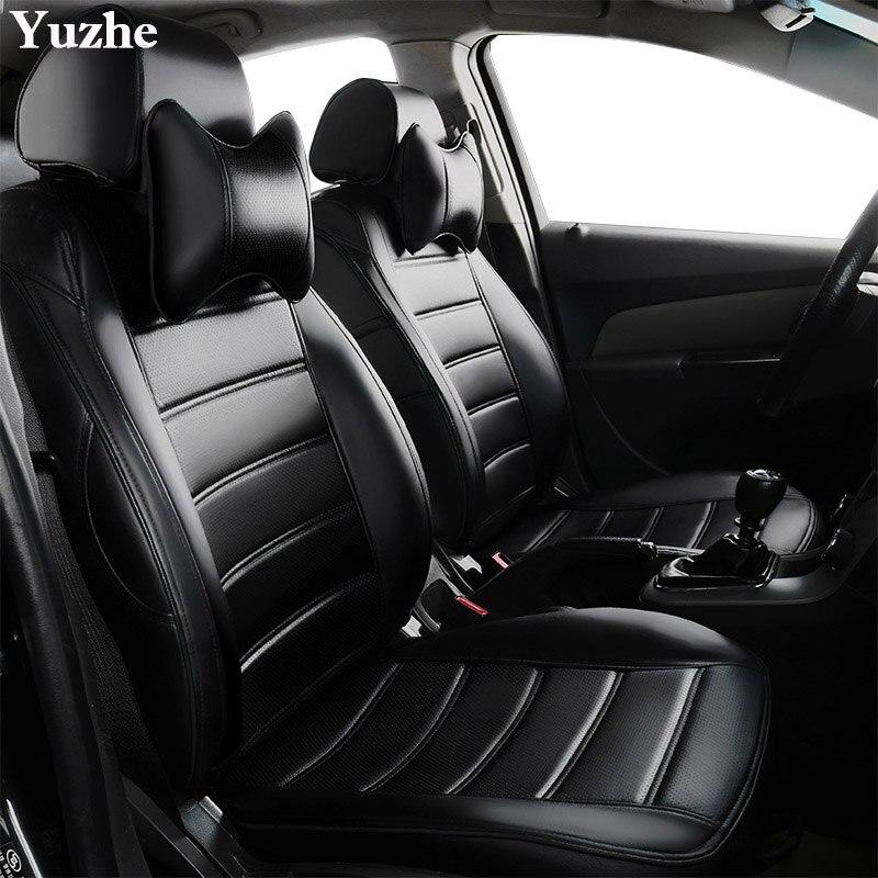 Yuzhe (2 sièges Avant) Auto automobiles siège de voiture en cuir couverture Pour BMW e30 e34 e36 e39 e46 e60 f11 f10 f30 x3 x5 x1 accessoires