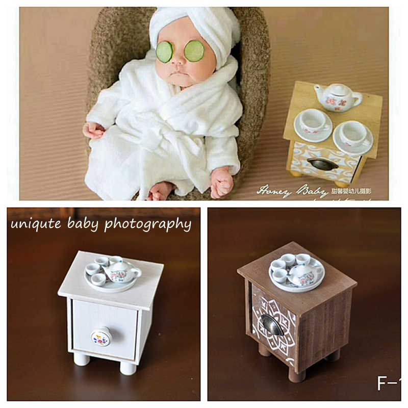 Small Tea Table+ Teapot +teacup Newborn  Photography  Props Infantile Creative Lovely Hooting  Prop Accessory