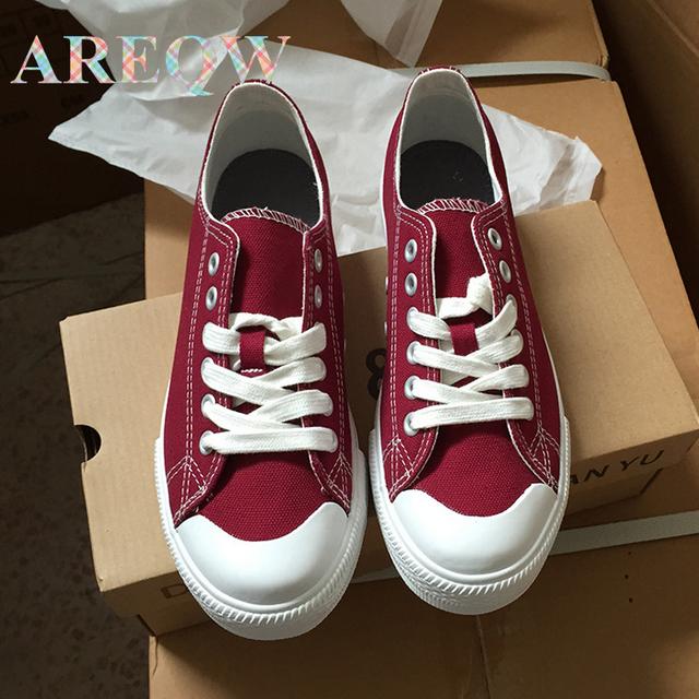 AREQW 2016 verão novo coringa da moda sapatos de lona branca femininos edição han sapatos casuais sapatos de pano