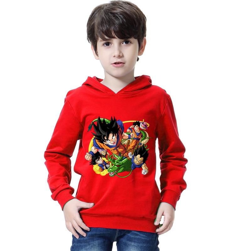 Bambini Anime Hoodies Dei Ragazzi 3d Dragon Ball Z Felpe Con Cappuccio Goku Pullover Manica Lunga Tuta Sportiva Hip Hop Autunno Cotone T Camicia