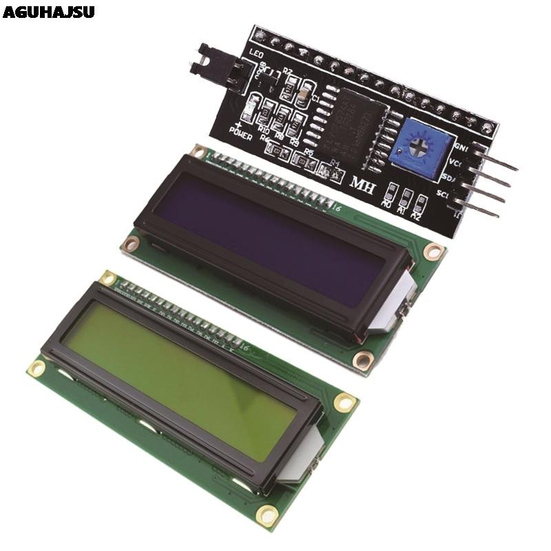 1 шт./лот ЖК-модуль Синий Зеленый экран IIC/I2C 1602 для arduino 1602 LCD UNO r3 mega2560 LCD1602
