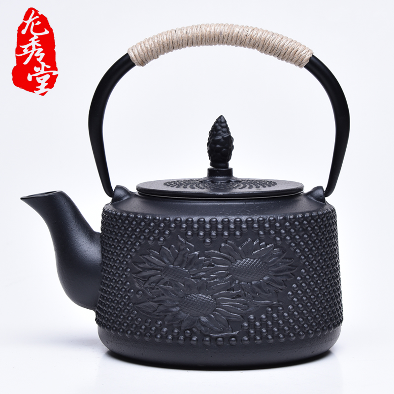 Hot sale Japanese cast iron teapot Carbon furnace iron kettle kung fu puer tea Iron pot oxidized uncoated Free Shipping