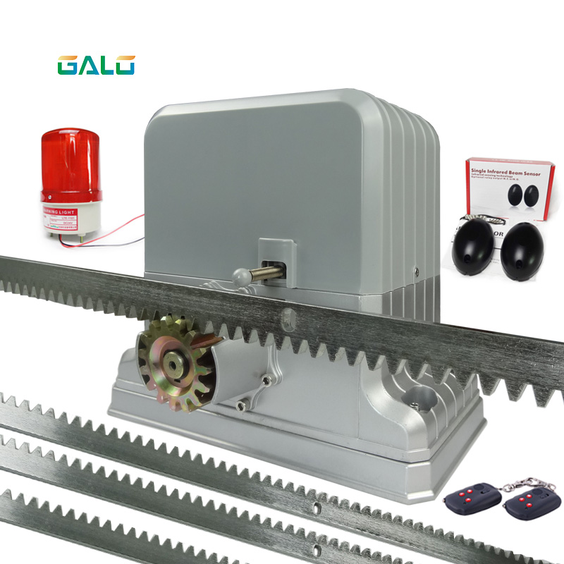 Heavy Duty 1800kg Electric Sliding Gate Motors/rolling Automatic Gate Opener Engine4 Remote Control And Racks 1Photocell 1 Lamp
