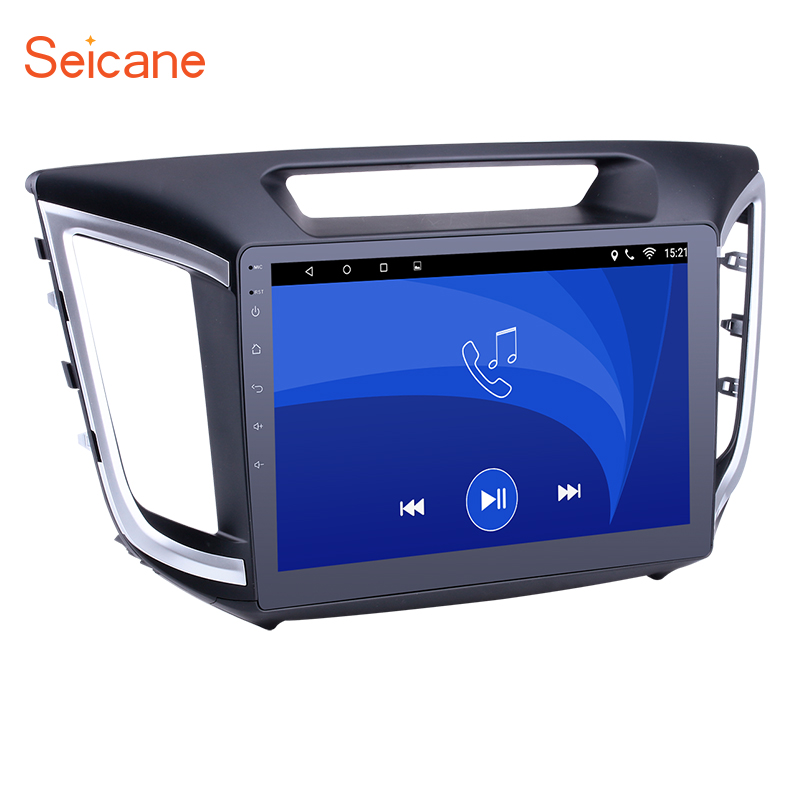 Seicane 2DIN 10.1 Android 6.0 touchscreen Bluetooth FM GPS Radio Multimedia Player for 2014 2015 Hyundai IX25 with WIFI 1G 16G