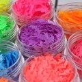 1 Caja Mate Fluorescente Lentejuelas Consejos Delfín Diseño de Uñas Lentejuelas Colores Glitter Tips Manicura Nail Art Decoration Accesstions