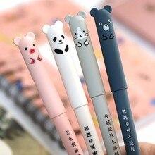 Милая свинка панда мышь медведь стираемая гелевая ручка роллербол ручка для школы офиса поставка Детский подарок канцелярские принадлежности 0,35 мм черный/синий Чернила