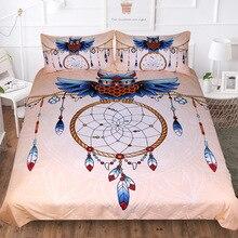 Owl Dream Catcher Bedding Set Luxury Queen King Duvet Cover 3d Lotus Mandala Snow Mountain 3-Piece Bedclothes Home Textiles