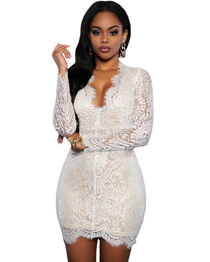 Hot Super Sexy Party Night Club Women Dresses Lace Deep V Neck Backless Dashiki Dress Robe Femme Ete 05040216