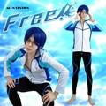 Free Shipping Free Shipping Free! Rei Ryugazaki Iwatobi High School Swimming Club Swimsuit Anime Cosplay Costume For Halloween