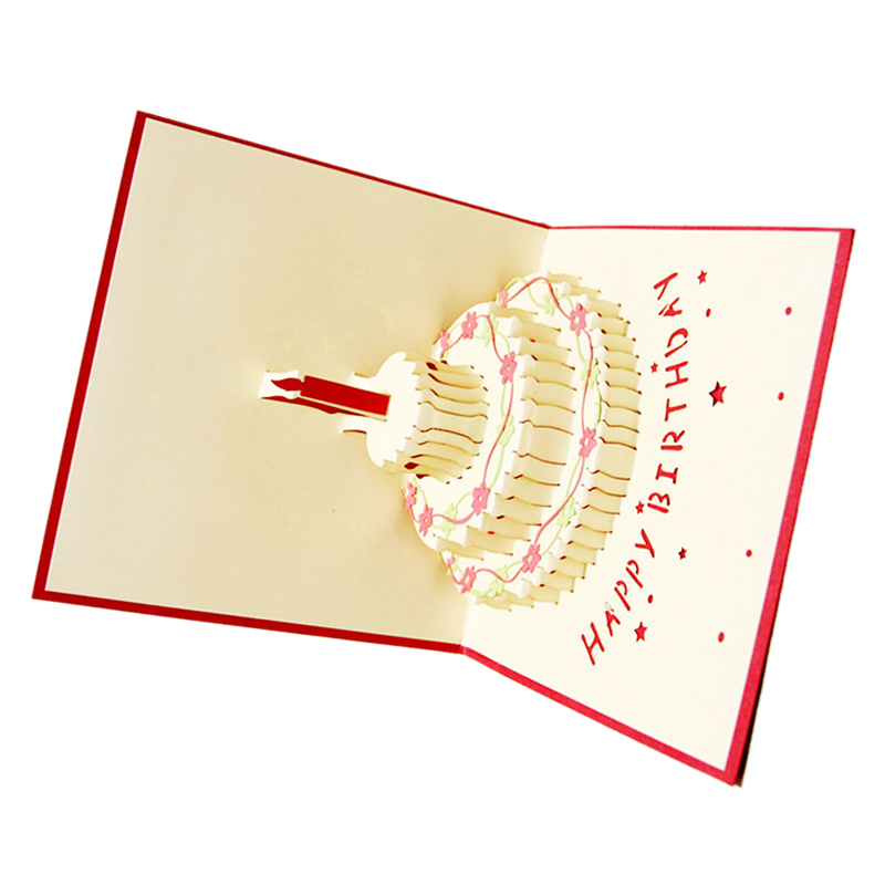 Perfect-3D Handmade Custom Birthday Invitations Cards Wishes Messages Greeting Gift Cards Postcards Vintage Laser Cut Pop Up C