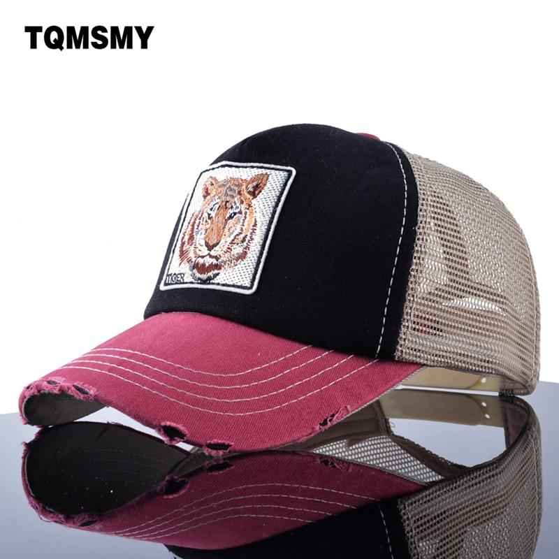 7b4e18ebe2f26 TQMSMY Unisex verano malla cap hombres Tigre bordado gorra de béisbol boy  Hip Hop casual Pokemon