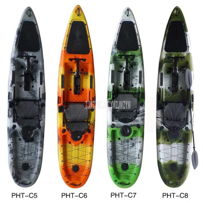 3.96m Length Single Person Professional Fishing Boat Canoe Kayak Ocean Boat Hard Plastic Drifting Foot Power Pedal Boat L025