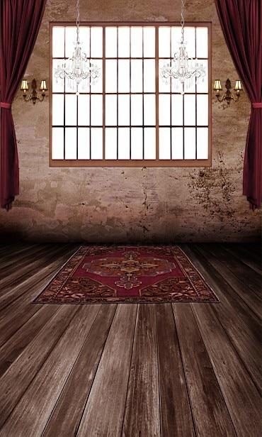backdrop studio window dark floor carpet curtain background wooden lamp custom dard zoom 8x15 10x20 vinyl mouse