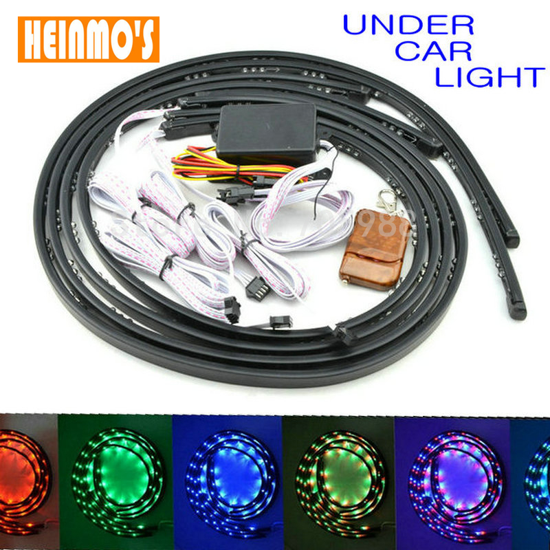 LED Strobe Light Underbody Undercar LED Glow lights LED Flash Under Glow Lamp 7 Colors Pattern Car Truck Decoration car styling 7 color led strip under car tube underglow underbody system neon lights kit ma8 levert dropship