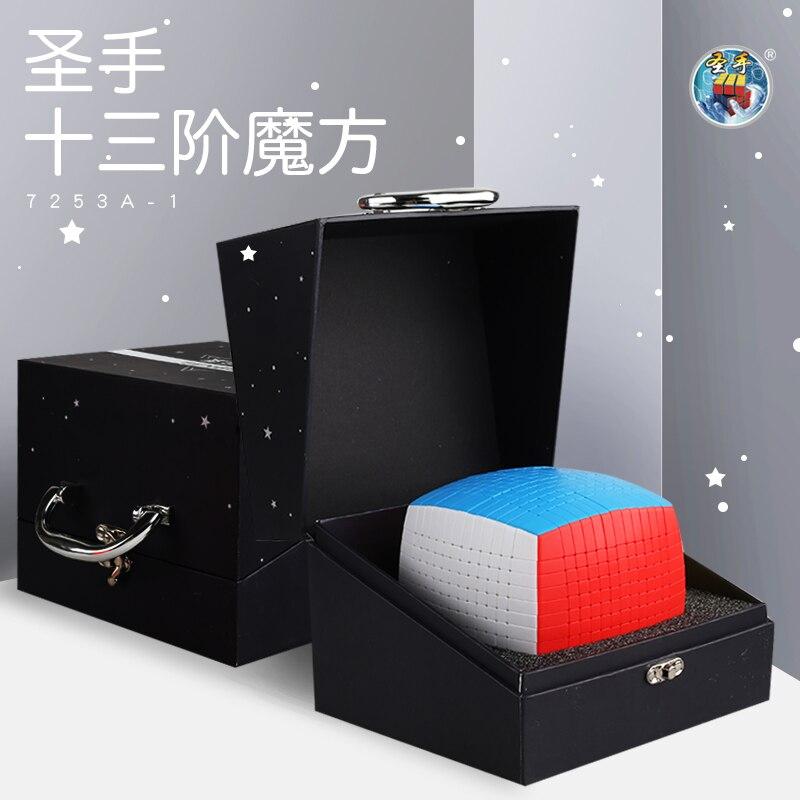 Più nuovo Top Shengshou 13 Strati 13x13x13 Cubo stickerless Velocità di Puzzle Magico 13x13 Educativi Cubo magico Giocattoli (128 millimetri) giocattoli per bambini-in Cubi magici da Giocattoli e hobby su  Gruppo 2