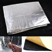 10pcs 7mm Aluminum Foil/10mm Fiberglass 30x50cm Car Sound Proofing Deadening Insulation Closed Cell Foam Car Hood Insulation Pad