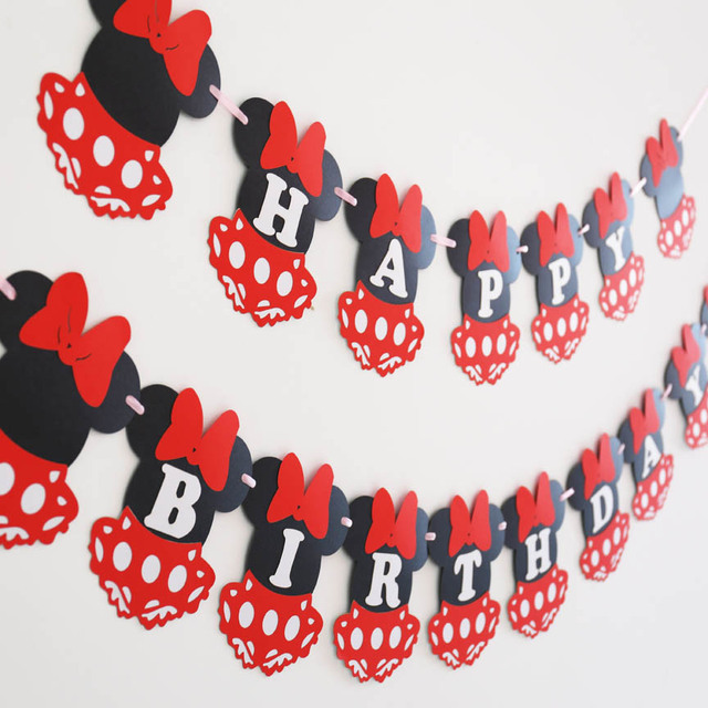 Minnie Mouse banner Minnie baby showerfirst birthday bannerMinnie