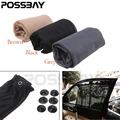POSSBAY 2016 New Truck Car Van Interior Window Sun Shade Curtain Black/Grey Gray/Brown Car Window Curtain 55*83cm Car Styling