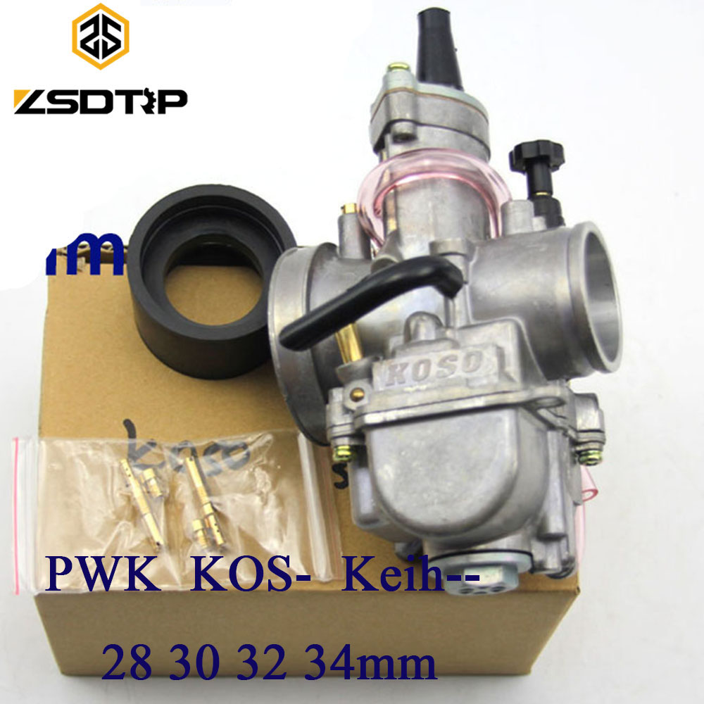 ZSDTRP Free shipping Motorcycle keihin koso pwk carburetor Carburador 28 30 32 34 mm with power jet fit on racing motor 125cc cbt125 carburetor motorcycle pd26jb cb125t cb250 twin cylinder accessories free shipping