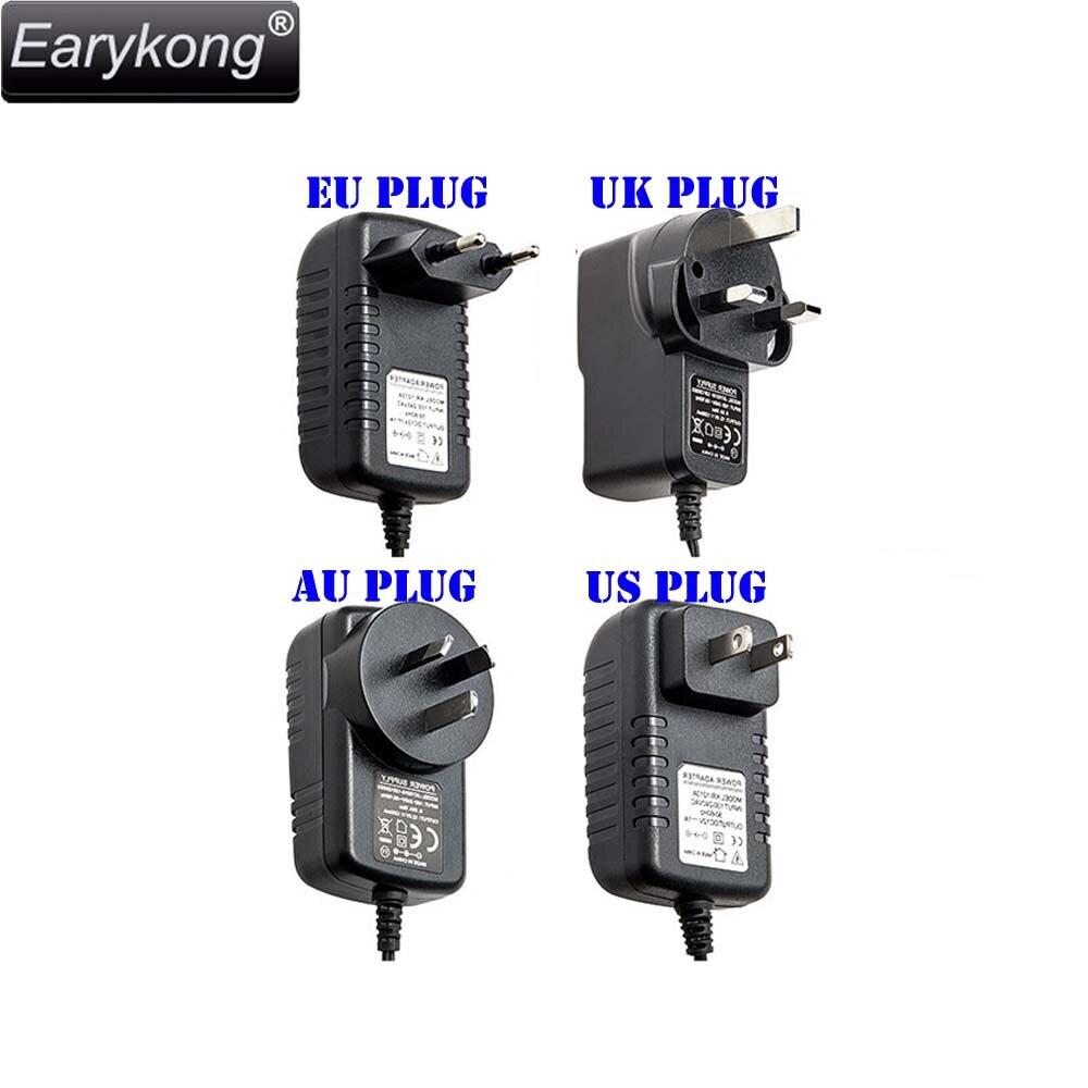 DC 12V Power Adapter, For Home Burglar Alarm System / Alarm Accessories. 4pcs 12v 1a cctv system power dc switch power supply adapter for cctv system