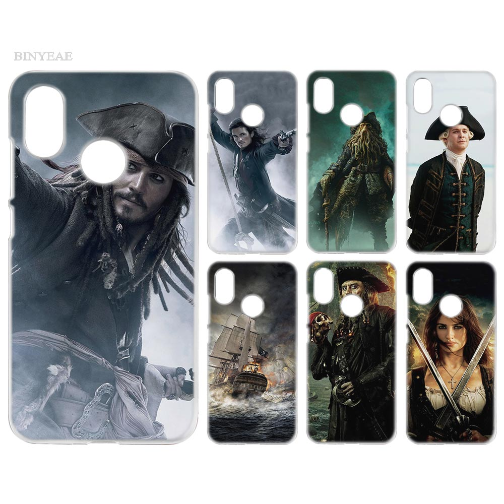 BINYEAE Case Cover Clear Hard PC Plastic for Xiaomi Redmi Note 4 4X 5 Plus A1 S2 A2 8 SE Pirates of the Caribbean