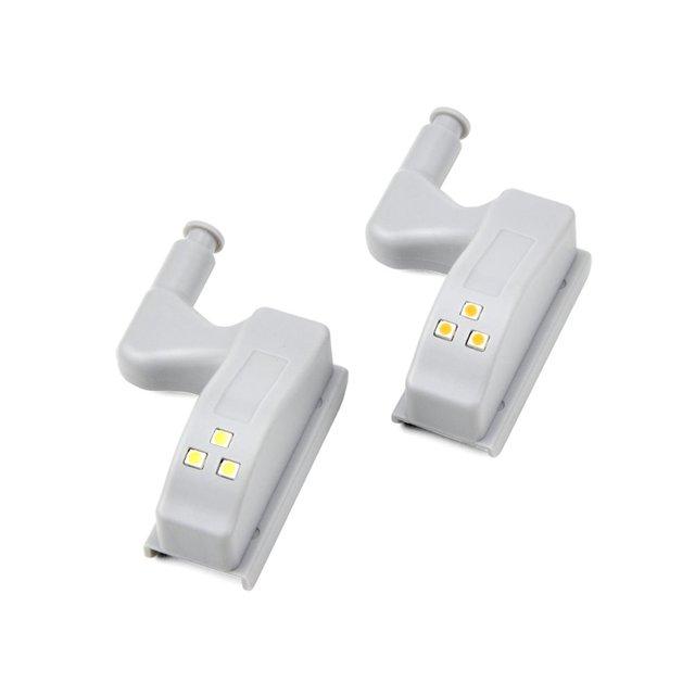 Светодиодная Сенсорная лампа с питанием от батареи 0,3 Вт, 12 В постоянного тока, автоматический датчик, шарнир для мебели, кухни, спальни, гардероба