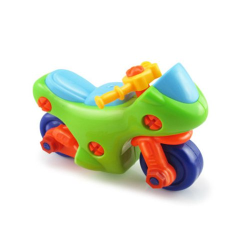 plastic screw toy educational diy assembling montessori baby intelligece Variety Multi function nut combination Children toy car in Model Building Kits from Toys Hobbies
