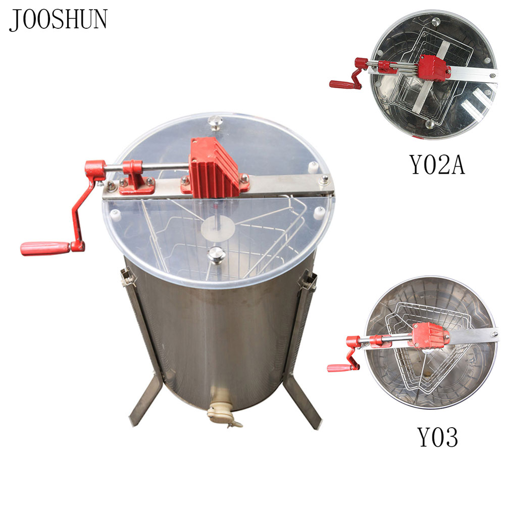 Manual Honey Extractor Beekeeping Equipment 2/3 Flames Bee Honey Extracting Tools Natural Bee Honey Processing Stainless Steel Мельница