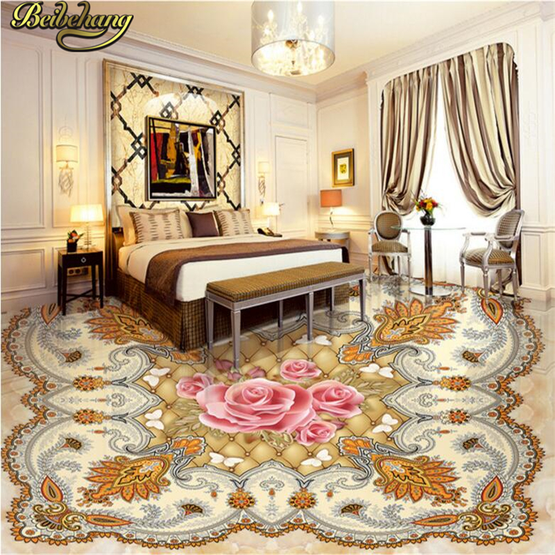 beibehang Custom papel de parede 3D Photo Wallpaper Living Room Bathroom Floor Stickers Waterproof Self-adhesive Wallpaper Mural beibehang summer beach floor floor murals wall stickers 3d wallpaper for living room pvc floor self adhesive papel de parede 3d