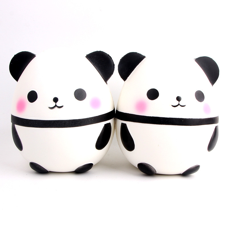 Jumbo Squishy Kawaii Panda Bear Egg Candy Soft Slow Rising Stretchy Squeeze Kid Toys Relieve Stress Phone Straps Children Gifts Traveling Collectibles Automobiles