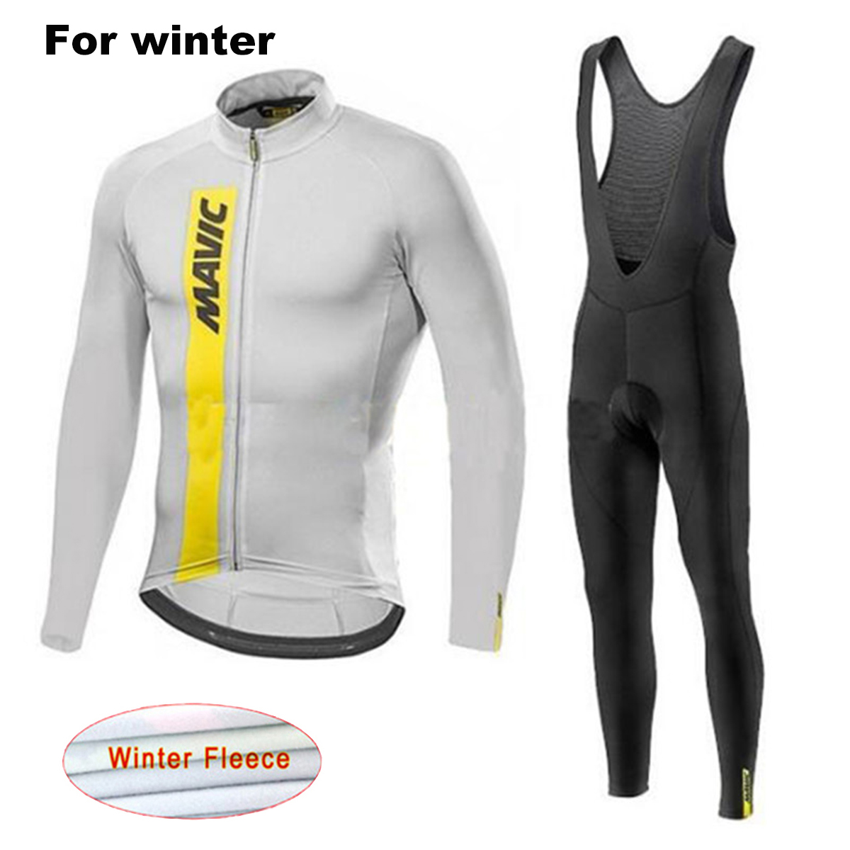 MAVIC 2017 Winter Warm Bicycle Clothing Cycling Jerseys Set New Men`s Thermal Fleece Team MTB Bike Clothes Ropa Maillot Ciclismo live team cycling jerseys suit a001